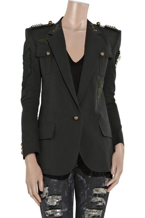 BALMAIN Cotton-canvas studded military blazer NICOLE owns too! 2