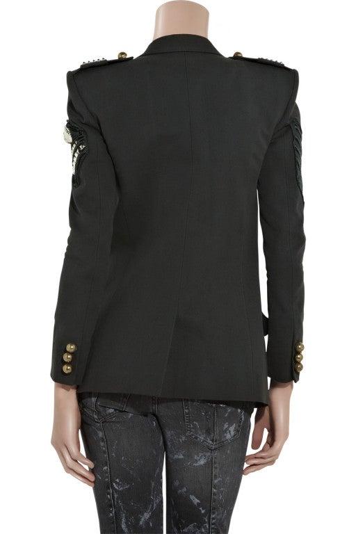 BALMAIN Cotton-canvas studded military blazer NICOLE owns too! 3