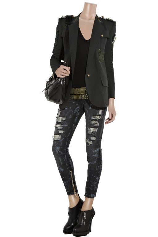 BALMAIN Cotton-canvas studded military blazer NICOLE owns too! 6