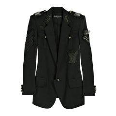 BALMAIN Cotton-canvas studded military blazer NICOLE owns too!