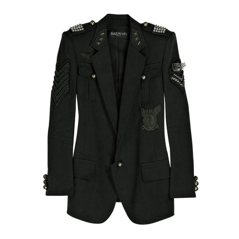 BALMAIN Cotton-canvas studded military blazer NICOLE owns too! 1