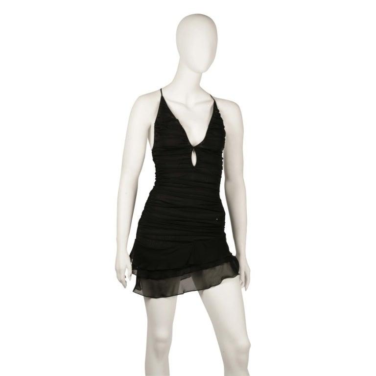 S/S 2003 TOM FORD for GUCCI BLACK SILK MINI DRESS 2