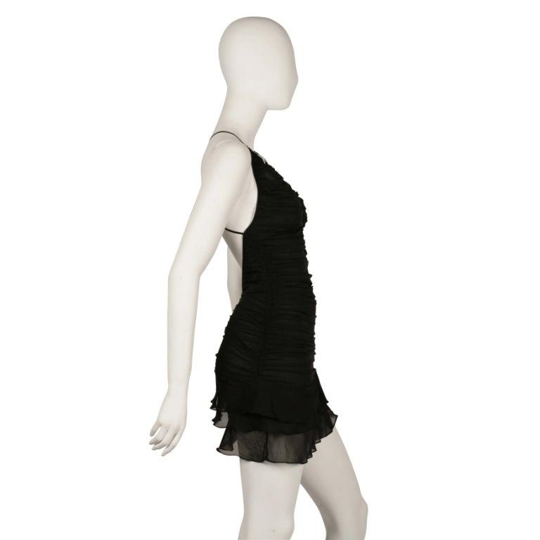 S/S 2003 TOM FORD for GUCCI BLACK SILK MINI DRESS 3