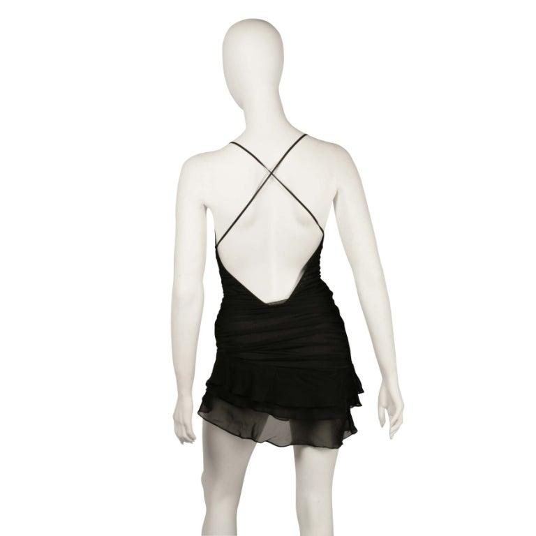 S/S 2003 TOM FORD for GUCCI BLACK SILK MINI DRESS 4