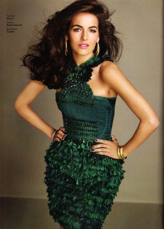 New GUCCI GREEN FEATHER DRESS 3