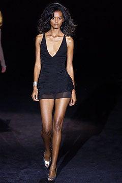 S/S 2003 TOM FORD for GUCCI BLACK SILK MINI DRESS 6