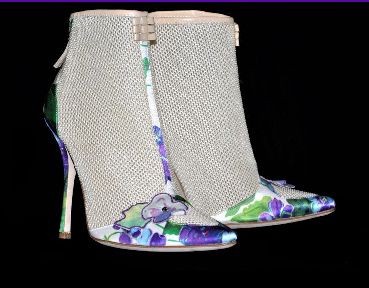 New ROBERTO CAVALLI ROMANTIC ANKLE BOOTS 3