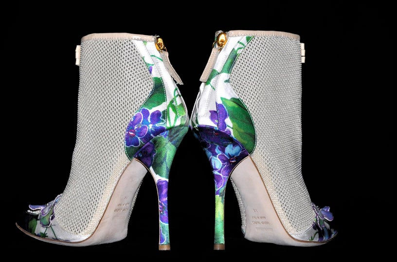 New ROBERTO CAVALLI ROMANTIC ANKLE BOOTS 4
