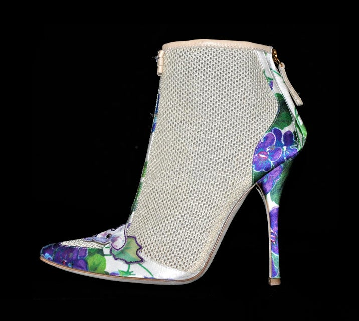 New ROBERTO CAVALLI ROMANTIC ANKLE BOOTS 5