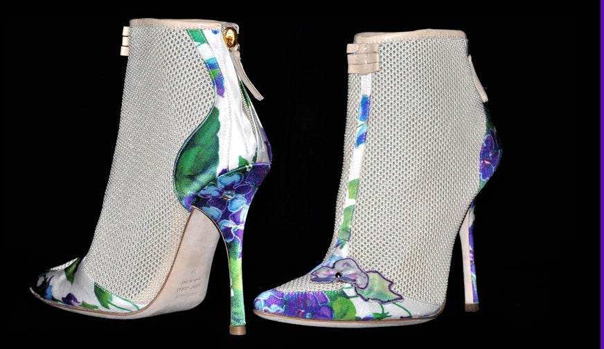 New ROBERTO CAVALLI ROMANTIC ANKLE BOOTS 7