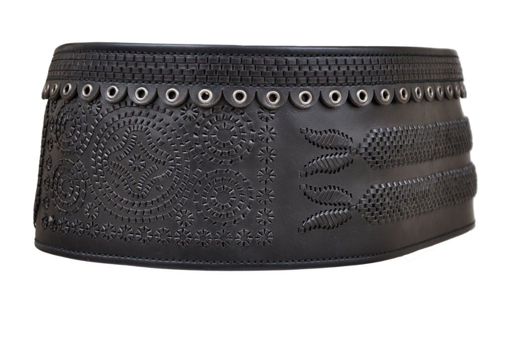 Tom Ford for Yves Saint Laurent Iconic Leather Belt 6