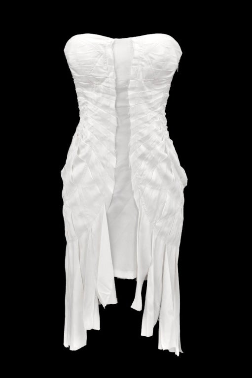 S/S 2004 TOM FORD for GUCCI WHITE SILK DRESS 2