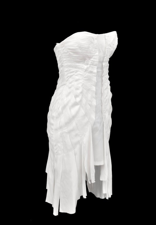 S/S 2004 TOM FORD for GUCCI WHITE SILK DRESS 3