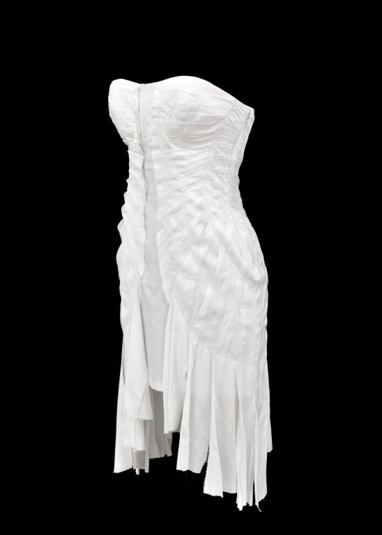 S/S 2004 TOM FORD for GUCCI WHITE SILK DRESS 4