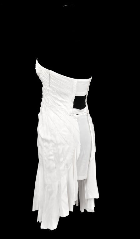 S/S 2004 TOM FORD for GUCCI WHITE SILK DRESS 5