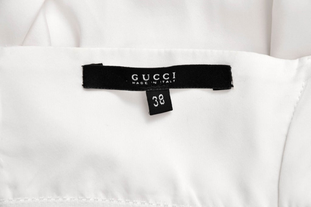 S/S 2004 TOM FORD for GUCCI WHITE SILK DRESS 8