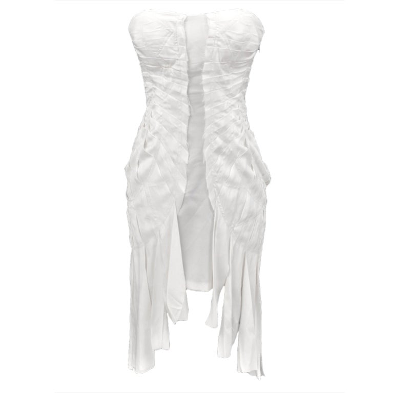 S/S 2004 TOM FORD for GUCCI WHITE SILK DRESS 1