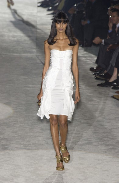 S/S 2004 TOM FORD for GUCCI WHITE SILK DRESS 9