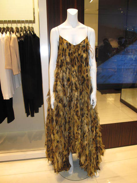 $13,000 Michael Kors Leopard Chiffon Gown with Feathers image 2