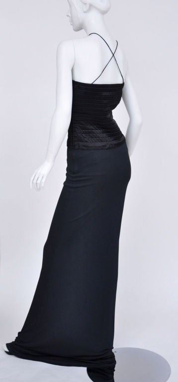 Tom Ford for Gucci Vintage Black Gown, Autumn / WInter 2002  In New Condition For Sale In Montgomery, TX