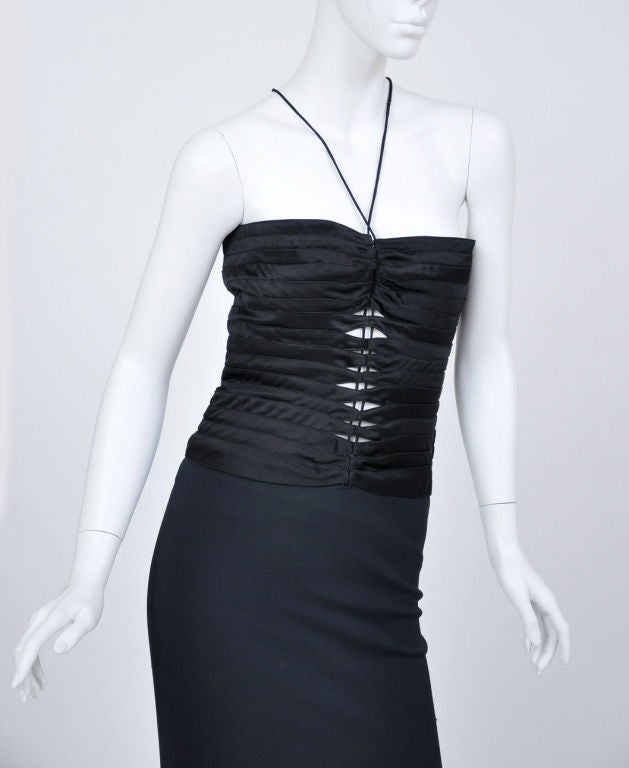Tom Ford for Gucci Vintage Black Gown, Autumn / WInter 2002  For Sale 1