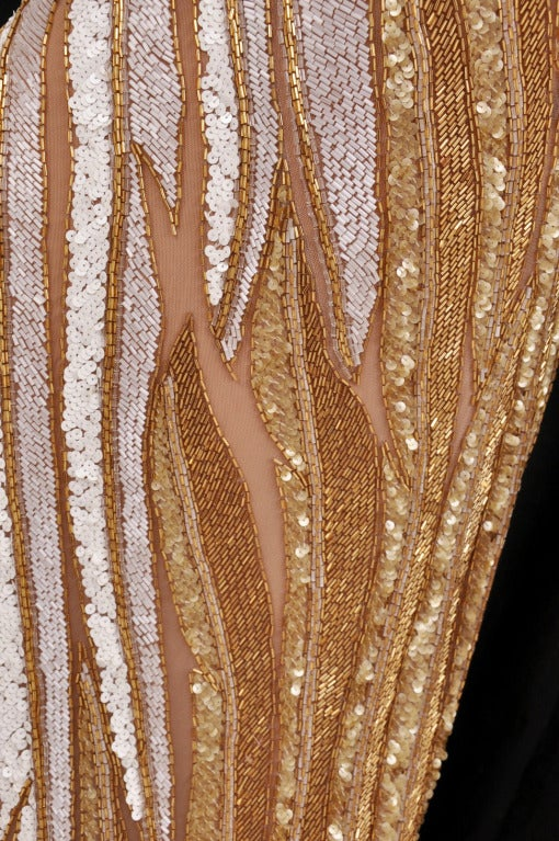Bob Mackie Gold Beaded Gown 8