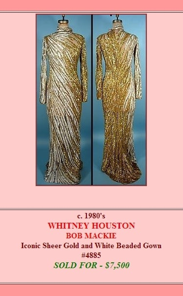 Bob Mackie Gold Beaded Gown 10