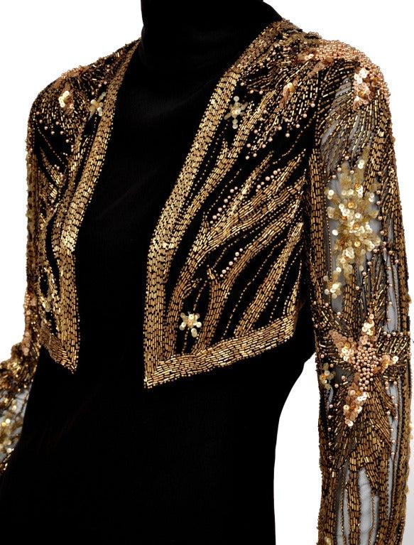 Women's 80-s Bob Mackie Beaded Bolero Dress For Sale