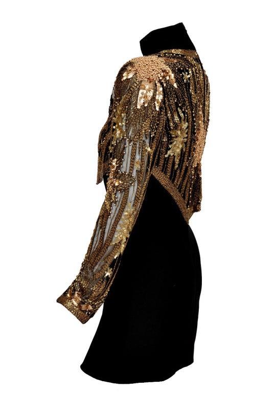 80-s Bob Mackie Beaded Bolero Dress For Sale 1