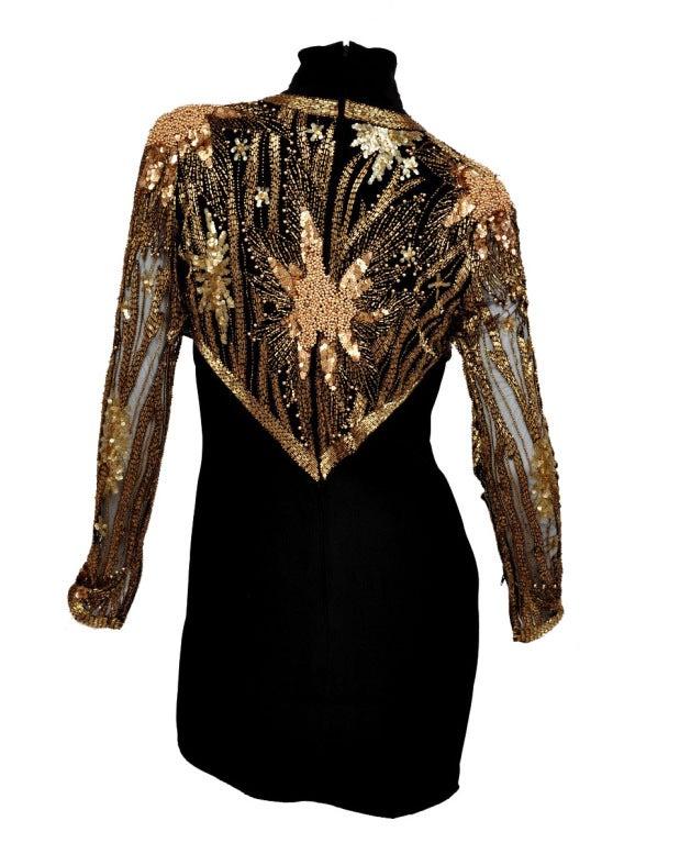 80-s Bob Mackie Beaded Bolero Dress For Sale 2