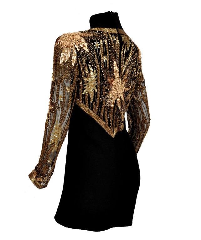 80-s Bob Mackie Beaded Bolero Dress For Sale 3