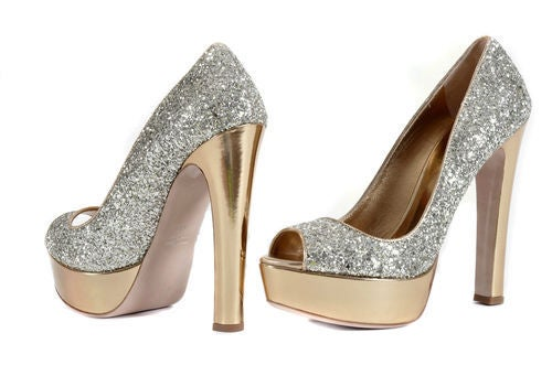 "MIU MIU INFAMOUS ""GLITTER OF PYRITE"" PLATFORM SHOES 2"