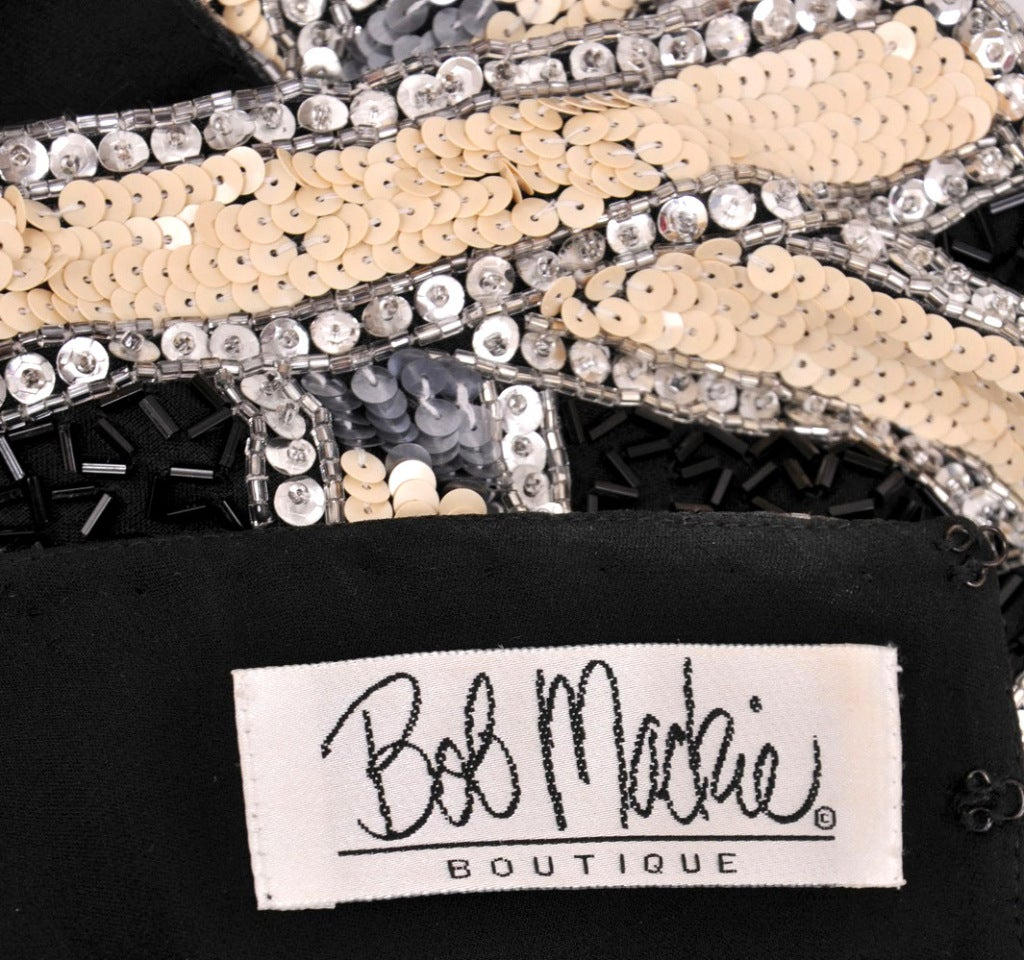 Women's 80's Bob Mackie Sequin Beaded Cropped Jacket For Sale