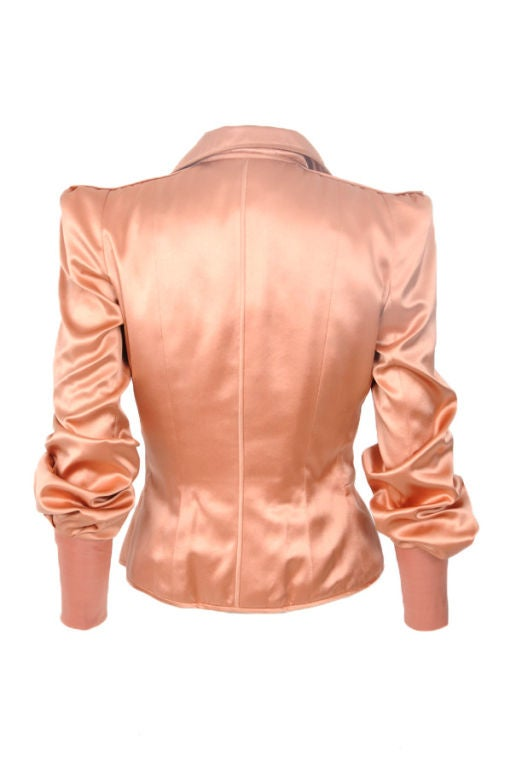 Tom Ford for Yves Saint Laurent Pink Silk Jacket at 1stdibs