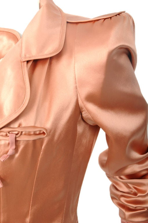 Tom Ford for Yves Saint Laurent Pink Silk Jacket 4