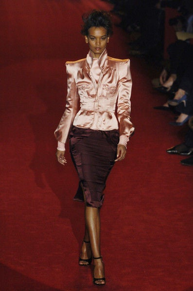 Tom Ford for Yves Saint Laurent Pink Silk Jacket 6