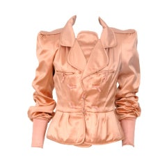 Tom Ford for Yves Saint Laurent Pink Silk Jacket