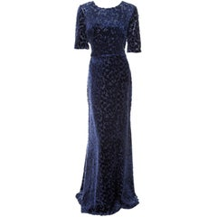 JASON WU BLUE DEVORE VELVET GOWN **Best Golden Globes 2012 dress