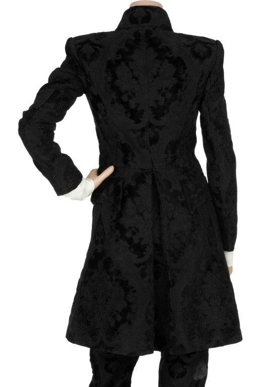 BALMAIN Black Brocade military coat 3