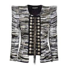 BALMAIN Sequin-embellished military jacket