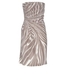 Gucci Animal Print Silk Dress with Corset