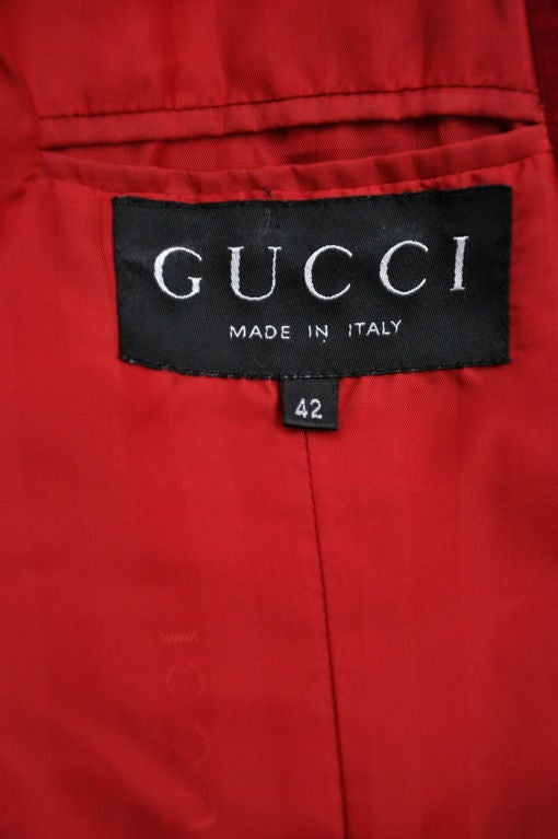 Tom Ford for Gucci Iconic Red Velvet Tuxedo Suit For Sale 4
