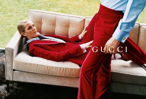 Tom Ford for Gucci Iconic Red Velvet Tuxedo Suit For Sale 5
