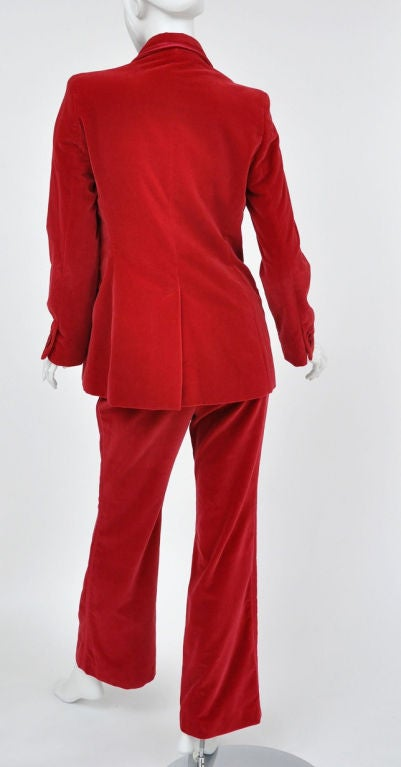 Tom Ford for Gucci Iconic Red Velvet Tuxedo Suit 3