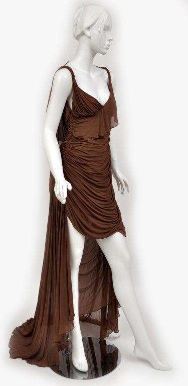 Black Tom Ford For Gucci Greek Goddess Silk Gown, 2003  For Sale