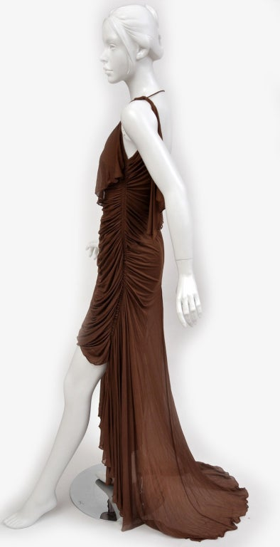 Tom Ford For Gucci Greek Goddess Silk Gown, 2003  In Good Condition For Sale In Montgomery, TX