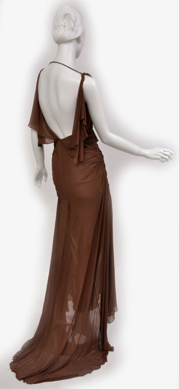 Women's Tom Ford For Gucci Greek Goddess Silk Gown, 2003  For Sale