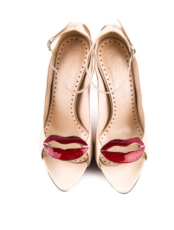 Beige 2003 TOM FORD for YVES SAINT LAURENT SHOES For Sale