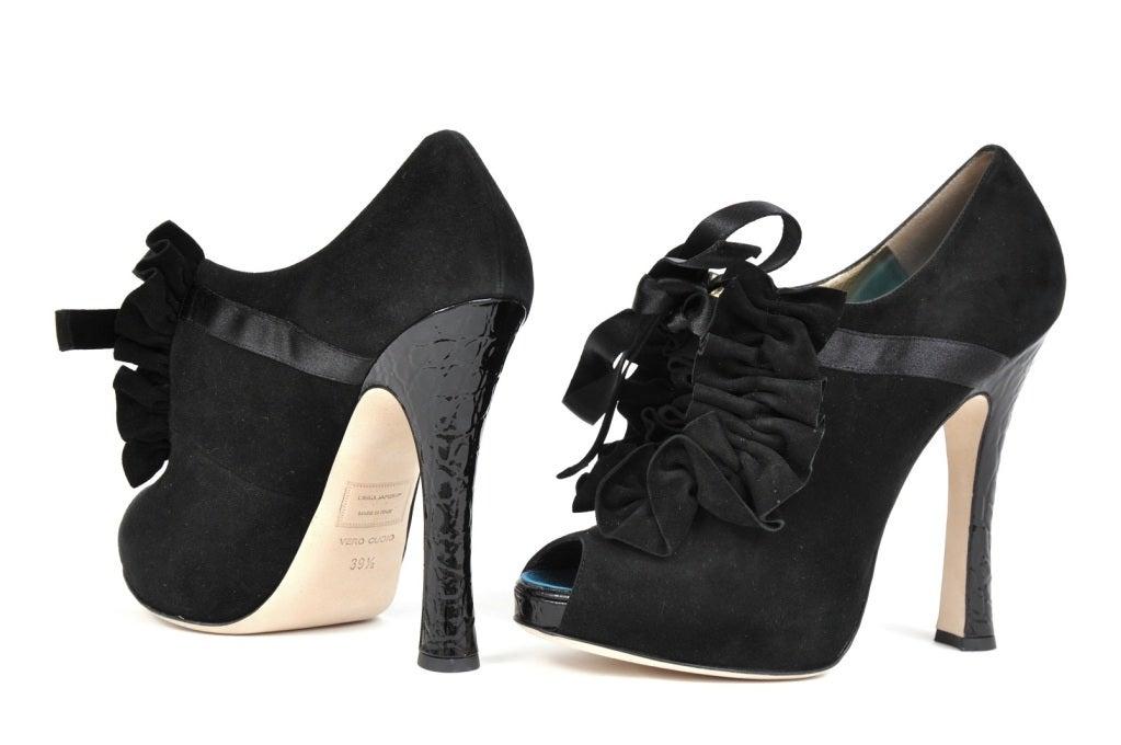 DSquared2 Frou Frou Camoscio Black Platform Shoes 9.5 3