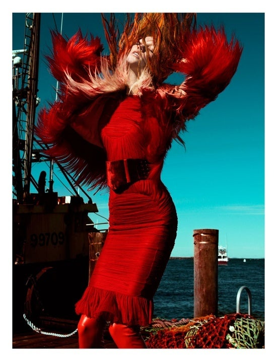 Tom Ford Raspberry Red Backless Rouched Tulle Dress W